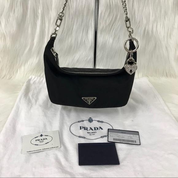 db029c265815 Authentic PRADA Tessuto Sirio Black Nylon Bag. M_5b88cfb9bf77291324a0c21e